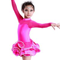 Wholesale Dance Costumes Sale - Kids Latin Dance Costume 7colors Latin Dance Dresses For Sale Free Shipping Dresses For Dancing Girls