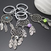Wholesale Gift Craft Key Rings - NEW Design Amulet Vintage Dream Catch Key Pendant Indian Style Dreamcatcher Keychain Wicker Crafts Key Ring Promotional Gifts