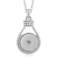 Wholesale Vocheng Pendant - VOCHENG NOOSA Ginger Snap Charms Jewelry Interchangeable Jewerly Crystal Pendants Necklace