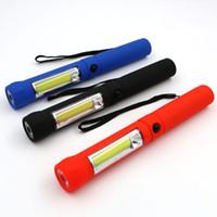 Wholesale Diving Hand Light - COB LED Flashlight Mini Pen Multifunction led Torch light cob Handle work flashlight 2 Modes Hand Torch Flashlight USE 4*AAA batteries