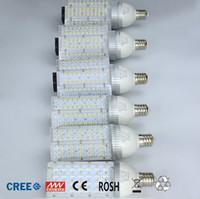 Wholesale 24v Led Emergency Light - 30W 40W 60W 80W 100W E40 E27 Corn Bulb LED Street Light AC 85-265V 12V 24V Led Street Lamp Outdoor Waterproof Vertical Garden Road Light