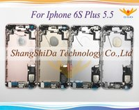 Wholesale Iphone Oem Back - High Quality For iphone 6S 4.7 '' 6S Plus 5.5 '' inch OEM Battery Back Door Cover Case Full Housing Assembly Replacement Parts