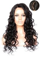 Wholesale New Look Wigs - 2016 New Arrival Virgin Brazilian Glueless 150 Density Human Hair Full Lace Wigs with Natural Looking Loose Wave Lace Front Wig