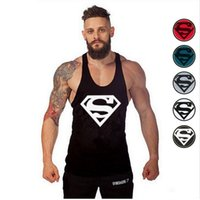 Wholesale Thin White Tank Tops Wholesale - Men's t shirt The Punisher Thin Straps Men's t shirts ZSIIBO 2017 Professional Vest Bodybuilding Cotton Golds Tank Tops Undershirt TX97-F