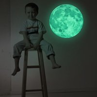 Wholesale 2016 Hot cm Moon Glow in the Dark Moonlight Luminous Art Mural Wall Sticker For Kids Room Home Decoration Pegatinas De Pared