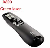 kablosuz sunum uzaktan lazer pointer toptan satış-R800 2.4 GHz Kablosuz Presenter Uzaktan Sunum USB Kontrol PowerPoint Yeşil Lazer Pointer ile PPT Clicker