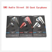 Wholesale Earbuds Sms - SMS Audio Street mini 50 Cent Earphones Earbuds In-Ear Headphone Headset with mic and mute button earphone 3 color