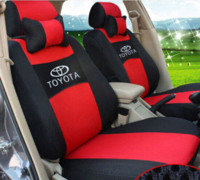 Wholesale Toyota Accessories Free Shipping - Free shipping Embroidery logo Car Seat Cover Front&Rear 5 Seat For TOYOTA Corolla Vios Yaris Prius Four Seasons