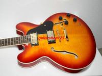 Wholesale 335 Neck - Newest Vintage Sunburst 335 Jazz Guitar ONE Piece Neck Free Shipping