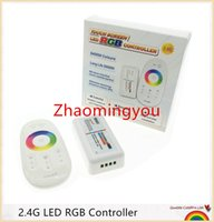 Wholesale Dc Remote Controls - 1PCS RGB led controller DC12-24V 18A RGB led controller 2.4G touch screen RF remote control for led strip bulb downlight