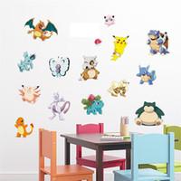 kreş dekorları toptan satış-Popolar Pikachu Çıkartması Çıkarılabilir Duvar Sticker Ev Dekor Sanat Çocuklar / Çocuk / Kreş Çocuklar Için Ev Dekorasyon Hediye Loving DHL B0457