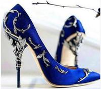 Wholesale Plus Sexy Dresses Day - Large Size Dress shoes women luxury 2017 Metallic gold sexy high heels bridal shoes pink stiletto Wedding women pumps plus size