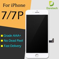 Ecran LCD Touch Digitizer Frame Assembly Réparation pour iPhone blanc noir 7 7 Plus gratuit DHL shipping