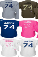 Wholesale Ladies Army Shirt - 2017 Womens Los Angeles 74 Kenley Jansen Baseball Jerseys Ladies Shirt White Blue Grey Pink Fashion Stitched Baseball Jerseys Size S-XL