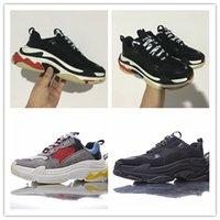 Wholesale Women S Silver Shoes - 2017 Paris Triple-S Designer Luxury Shoes Low Top Sneakers Triple S Men's and Women's Casual Shoes Outdoor Sports Trainers Shoes size 36-45