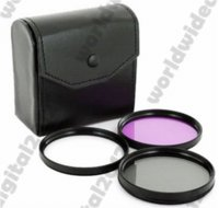 Wholesale Macro Close Up Filter Kit - 55MM Close up Macro SLR Lens Filter Kit + Graduated Grey Blue + UV CPL FLD Filter Kit + Hood For