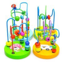 Wholesale Puzzle Games Girls - Puzzle Mini wooden beads around the bead toy building toy early childhood educational toys.Colorful Educational game