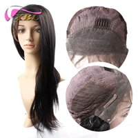 Wholesale European Remy Wigs - Straight Front Lace Wig Virgin Straight Human Hair Extensions XBL Human Hair Wig XBL Free Shipping