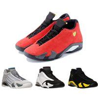 Wholesale Silk Black Cheap Lace Top - Cheap Wholesale online 2016 TOP Quality Retro 14 14s XIV Basketball Shoes For Men,fasion Purple Black Red Force Sneakers shoes