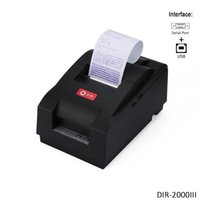 Wholesale Printer Receipt Paper - Black Desktop Dot Matrix Receipt Printer,Paper Width 76mm Serial Port + USB Port