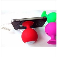output devices computers - Portable Mini Silicone Sucker Speakers Red Wine Glass Shape Tablet Phone Stents Speakers Suitable for mm Audio Output Device