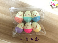 Wholesale School Egg - Wholesale- Mini Smile Egg Highlighter Pens Marker Pen Kawaii Stationery Material Escolar Papelaria Writing School Supplies