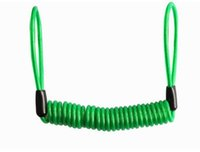 Wholesale Spring Steel Wire Wholesalers - 2016 Motorcycle Motorbike Disc Lock Spring Reminder Cable Minder Reminder Cable Steel Wire Rope With Colorfu 1.5M and 1.2 for Choose