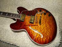 Wholesale sunburst 335 - Custom Honey Wave 335 Classic Electric Guitar Gold Hardware Free Shipping