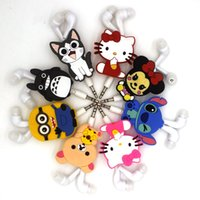 Wholesale Despicable Headphones - 2016 NEW cartoon in-ear wired 3.5mm earphone Despicable Me Hello Kitty Minions model stitch bear Telescopic anime headphones