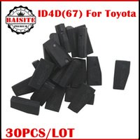 Wholesale Toyota Transponder Key Blanks - Good feedback 30pcs lot Auto Transponder blank 4D67 Transponder Chip for toyota id 4d 67 4d67 chip transponder key free shipping