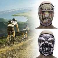 Wholesale Motorcycle Face Mask Pattern - Wholesale- Hot Sell Sunscreen Cycling Mask 3D Printed Pattern Bicycle Motorcycle Riding Mask Windproof Full Face Mask Cycling Accessories