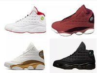 Wholesale Army Play - retro 13 basketball shoes DMP history of flight HOF black cat red velvet Heiress play off he got game barons Grey Toe sneakers