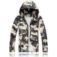 Hooded sport coat materials - High Quality Material new men s cultivate one s morality even cap camouflage jacket coat jacket male sports coat hooded Dust coat LHN