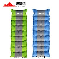 Wholesale Memory Mattress Pad - The inflatable Memory foam mattress Automatic inflatable cushion Air Beach Hiking Bag Pad for outdoor essential cushion