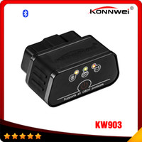 Wholesale Bluetooth Diagnostic Tools - KONNWEI KW903 ELM327 Bluetooth Car OBD2 OBDII Auto Fault Diagnostic Tool New Product Free shipping