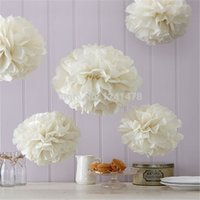 "Wholesale tissue paper pompoms wholesale - 24 colors!! tissue paper pompoms flowers 6"" (15cm) 40pcs lot paper balls garlands baby shower wedding party decoration"