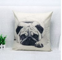 Ring black and white ring pillow - Cute Pug Pet Dog black and white Print Custom Home Decorative Throw Pillow almofadas decorate pillow sofa chair cushion