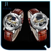 Wholesale Double Watches For Man - Best Selling Men Skeleton Watch Multi Functions Automatic Mechanical 50m Waterproof Double Face Stainless Steel Wrist Watch for Men