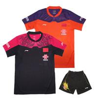 sportkleidung großhandel-Chinesisches Pingpong Team Jersey, 2016 LN Zhang Jike Jersey, Tischtennist-shirt Männer / Frauen, Tischtennissportbekleidung 1set 36139 ling