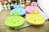 ingrosso piatti carini-Nave libera del DHL, scatola di sapone del contenitore di sapone del contenitore di sapone del contenitore di sapone del contenitore di sapone della scatola del bagno di 200Pcs Cute Rabbit