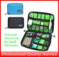 Wholesale Cell Stuff - Universal Travel Case for Small Electronics and Accessories Storge Hand Bag for Power Bank and Cell-phone Black Blue Bag001