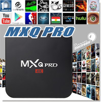 MXQ Pro TV Box Amlogic S905 Chipset Totalmente carregado Android 5.1 Lollipop OS Quad Core 1G / 8G 4K Google Streaming Media Player com wi-fi