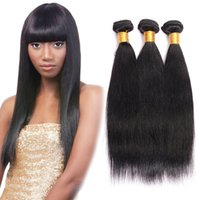 Unprocessed Brazilian Kinky Straight Hair Weave Natural Color 3Pcs Lote Boa qualidade Kinky Straight Hair 100% Real Human Bulk Hair