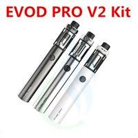 Wholesale Evod Refill - Kanger EVOD PRO V2 Starter Kit 2500mah Built-in battery 4.0ml Top Refilling Tank with CLRBA 100% Original EVOD Pro V2 All-in-one Kit
