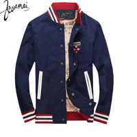 Wholesale jaqueta baseball masculina - Fall-BO37 New Men Fashion Baseball Jacket Collar Casual Jaqueta Masculina Men Cultivating High Quality Brand Clothing Veste Homme XXL