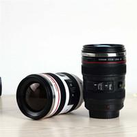 Wholesale Novelty Wholesale Cameras - Camera Cup Camera Lens Coffee Mugs Stainless Steel Liner Tea Cups Creatives Tumbler Travel Mug SLR Lens Bottle Novelty Gift