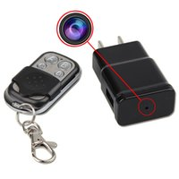 Wholesale Hidden Spy Cam Remote - 32GB Mini 1080P HD SPY DVR Hidden Wall Charger Camera Adapter Plug Nanny Cam Security Camera+Remote Control