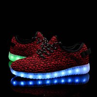 Wholesale Wholesale Casual Shoes For Men - Men Women LED Shoes Light Up Sneakers Colorful Flashing Shoes with USB Charging Luminous Party Casual Shoes for Kid and Adult