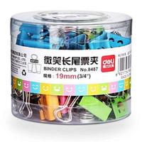 liant en métal achat en gros de-Smile Smile Metal Binder Clips Doux Expression Food Bag Clips Clips Note Étudiant Papeterie 40PC / lot Aléatoire Mixte