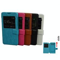 caixas telefone g2 venda por atacado-Luxo ultra fino Elephone G2 caso, couro Flip Universal Phone Cases para 4-6. 0 polegadas telefones BLU Huawei ZTE Oneplus Lenovo caso com TPU